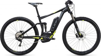 vtt electrique cube stereo hybrid 120 hpa pro 500 black yellow 2017 - Velobrival
