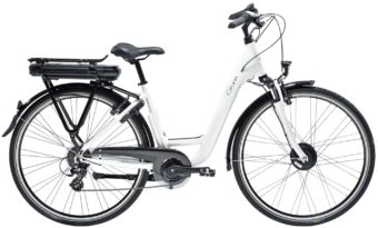 velo electrique gitane organ e-bike lady blanc - Velobrival
