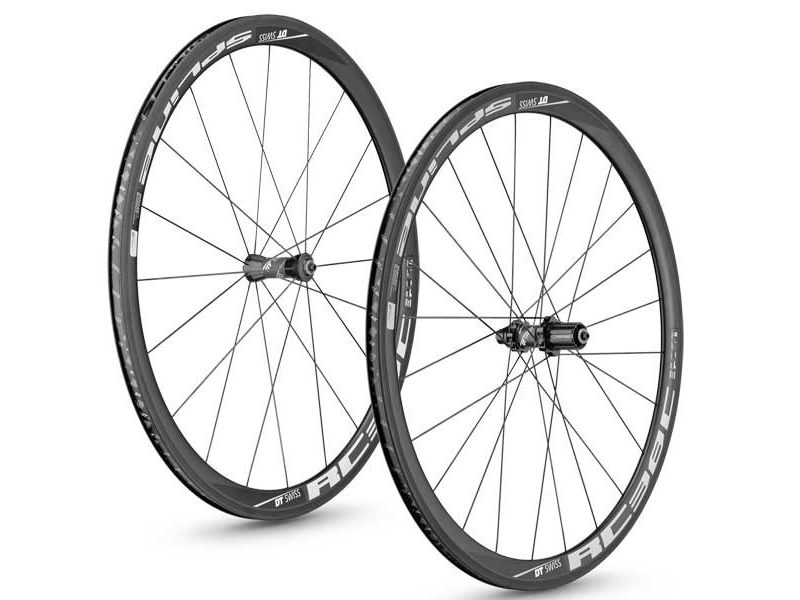 roues velo route carbone dt swiss rc38 spline clincher - Velobrival