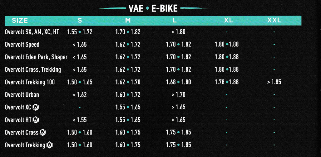 guide taille vae lapierre - Velobrival