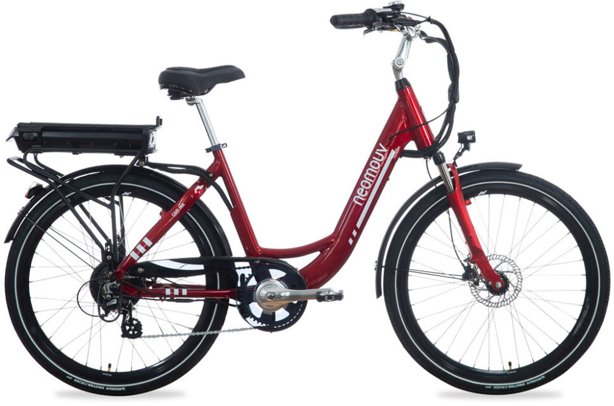 velo electrique NEOMOUV CARLINA HY ROUGE 2018 - Velobrival